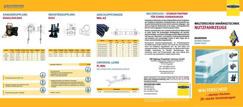 Walterscheid Flyer Anhängetechnik für Nutzfahrzeuge