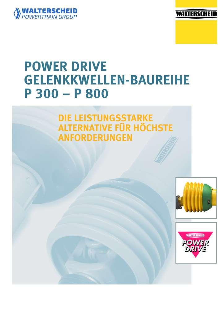 Walterscheid Power Drive Gelenkwellen P300 - P800
