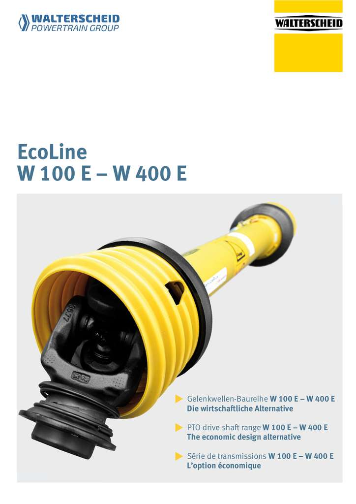 Walterscheid Ecoline W100E - W400E
